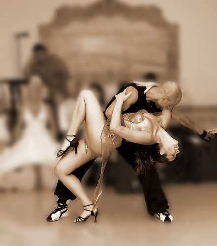 Couple dancing latin