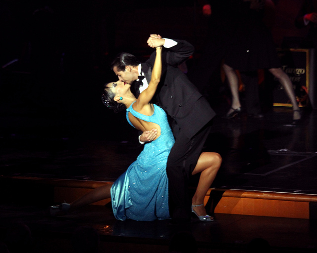 Couple in tango finale